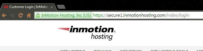 Google Chrome Secure page