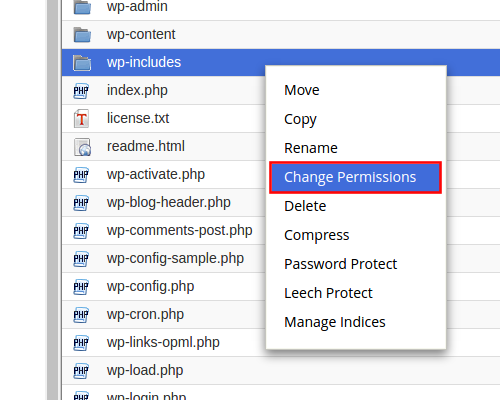 cpanel-change-file-permissions