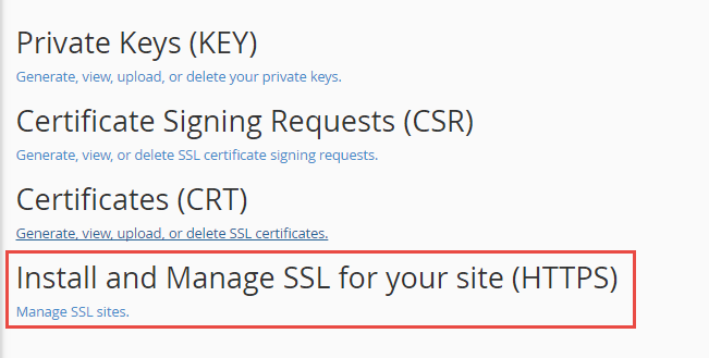 click setup an ssl certificate to work with your site