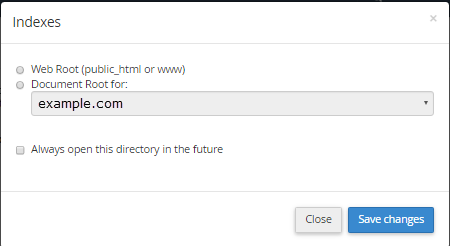 Select the domain by clicking on settings