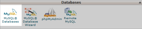 click the database tool