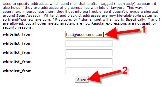 white listing email address