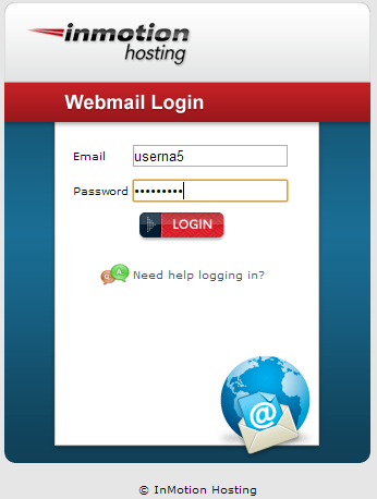 webmail login box