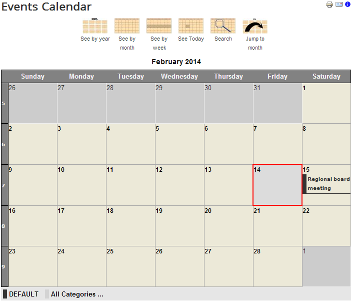 Jevents calendar for Joomla 3