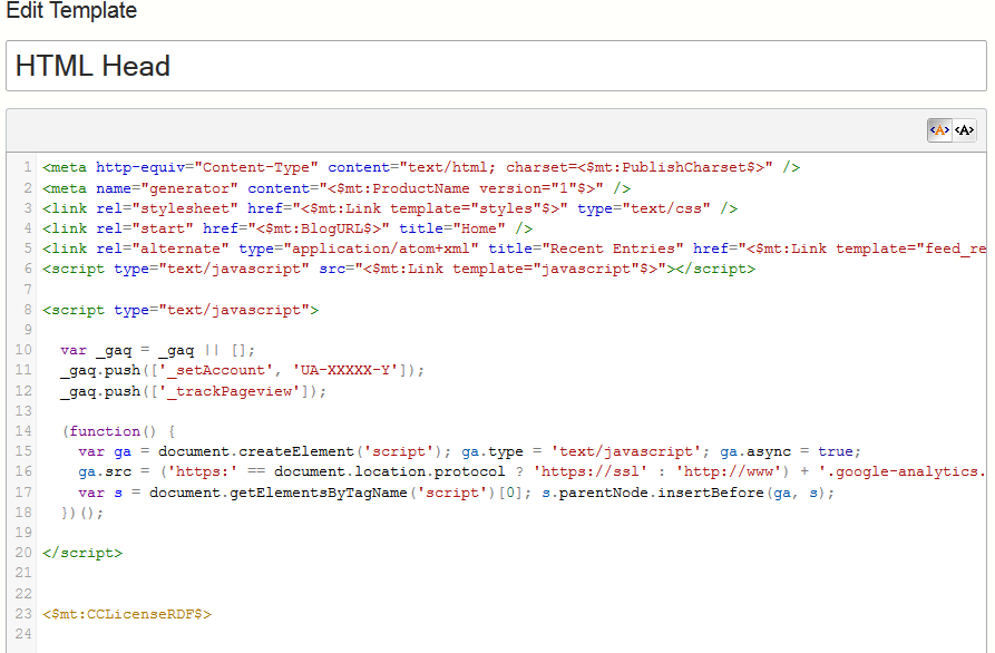 Google Analytics Code added (lines 8-20)