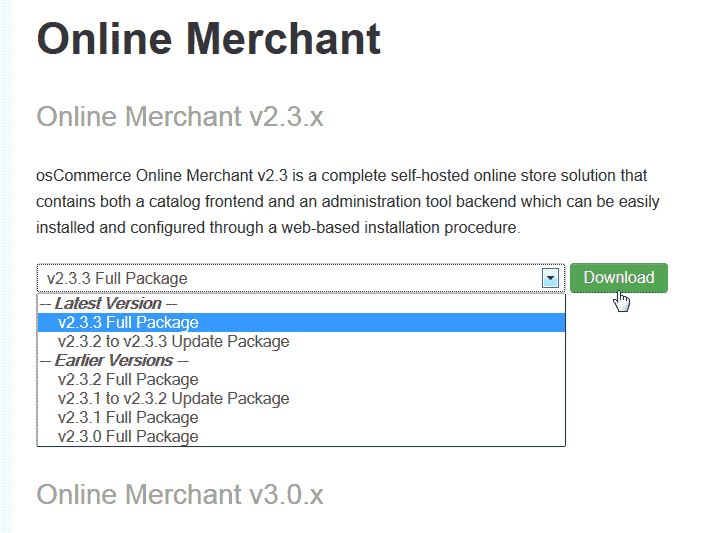 Download osCommerce 2.3.3