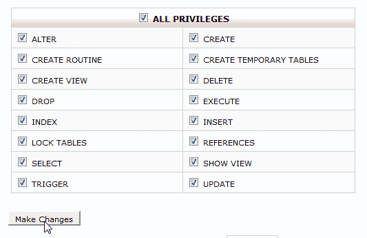 Give all priviledges osCommerce 2.3.3