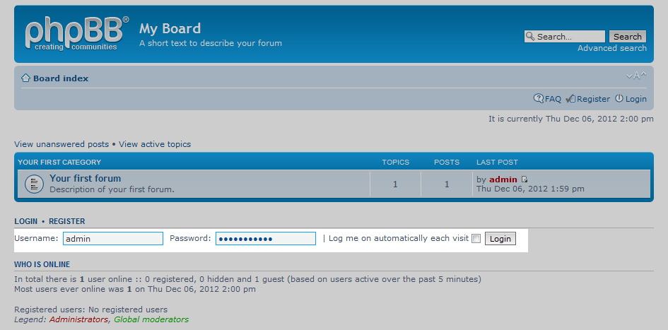 How to Log into your phpBB Dashboard   InMotion Hosting
