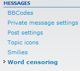 click word censoring