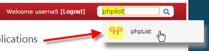 click-on-phplist-from-search