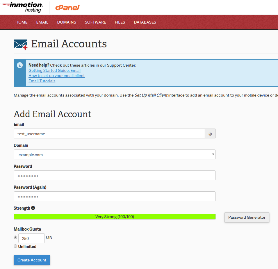 Creating an Email Account in cPanel - InMotion Hosting
