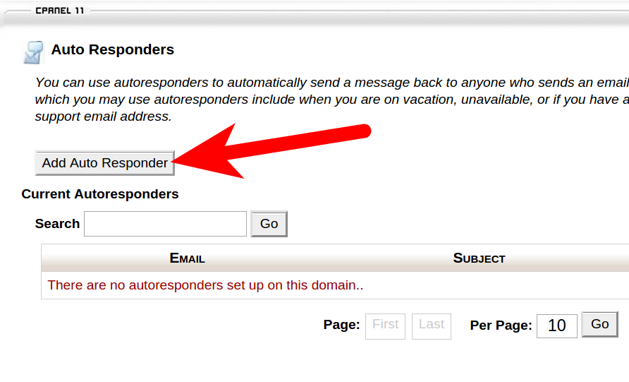 cPanel Email Responder