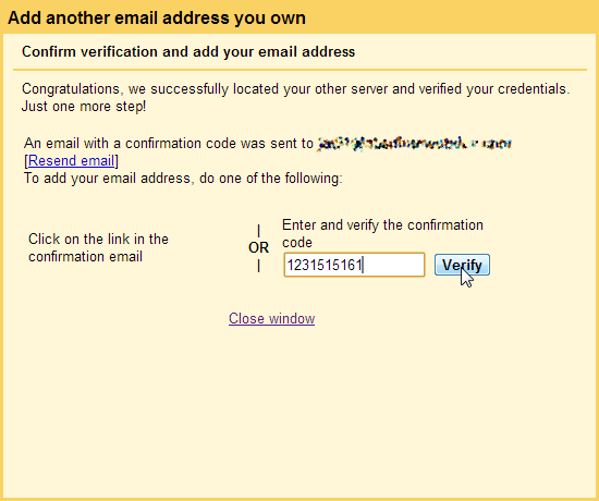 Validate POP3 SMTP Gmail