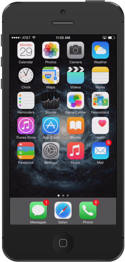 iphone6 start screen