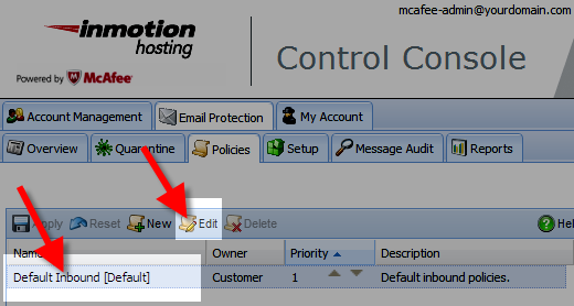 editing the profanity filter in the mcafee control console