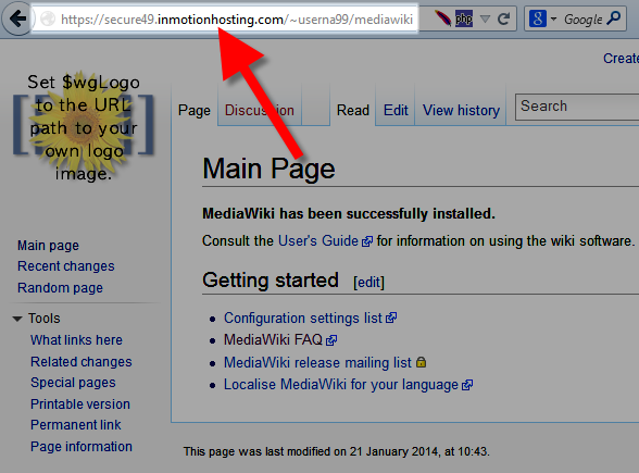 MediaWiki after changing URL