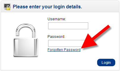 using the forgot password link