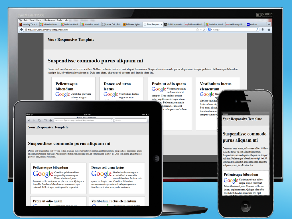 Final view of Responsive Template