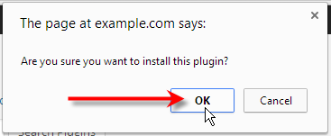 click ok on confirmation pop-up
