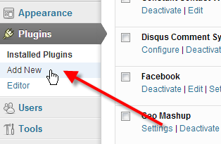 Click on add new plugin