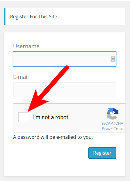 Example of WP-reCAPTCHA